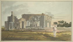 A ruined bungalow, perhaps part of the old East India Company's factory, at Jellasore, Balasore district (Orissa)